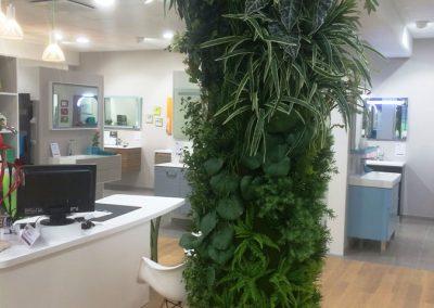 Colonne végétale - Plantes artificielles