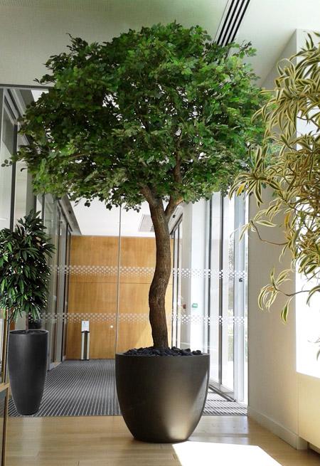 Décoration arbres semi-naturels